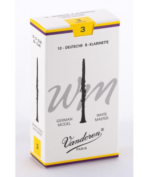 Boite de 10 anches Allemandes Vandoren White Master pour Clarinette Sib