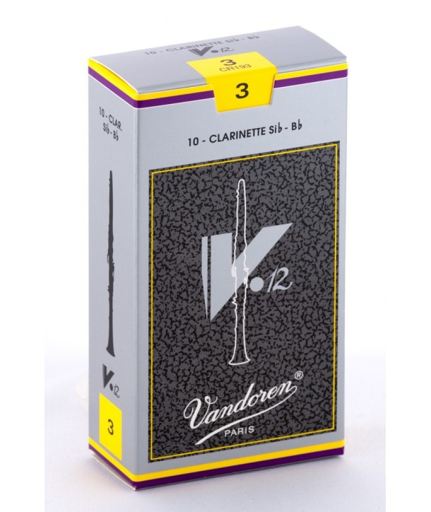 Boite de 10 anches Vandoren V12 pour Clarinette Sib