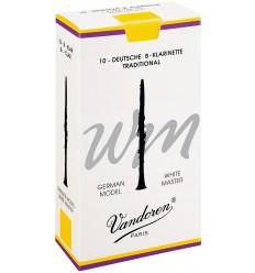 Boite de 10 anches Allemandes Vandoren White Master Traditionnelles pour Clarinette Sib