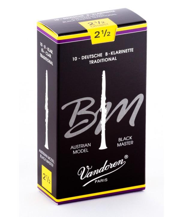 Boite de 10 anches Autrichiennes Vandoren Black Master pour Clarinette Sib