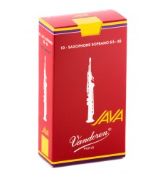 Boite de 10 anches Vandoren Java Rouge pour Saxophone Soprano