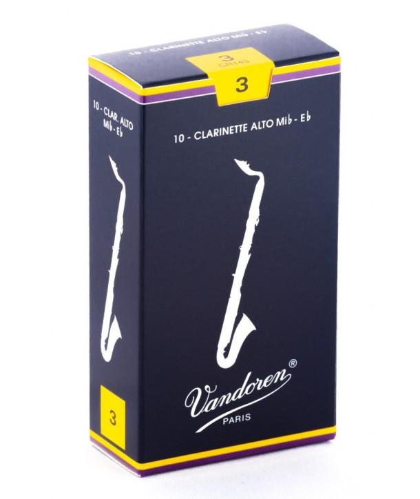Boite de 10 anches Vandoren Traditionnelles pour Clarinette Alto