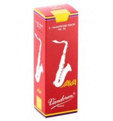 Boite de 5 anches Vandoren Java Rouge pour Saxophone Ténor