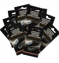 Lot de 10 sachets de 6 pastilles protège-becs transparentes Vandoren - ép. 0,35 mm
