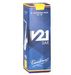 Boite de 5 anches Vandoren V21 pour Saxophone Ténor