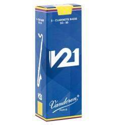 Boite de 5 anches Vandoren V21 pour Clarinette Basse