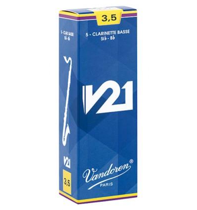 Boite de 5 anches Vandoren V21 pour Clarinette Bass