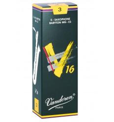 Boite de 5 anches Vandoren V16 pour Saxophone Baryton