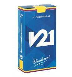 Boite de 10 anches Vandoren V21 pour Clarinette Sib