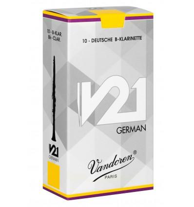 Boite de 10 anches Allemandes Vandoren V21 German pour Clarinette Sib
