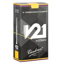 Boite de 10 anches Autrichiennes Vandoren V21 Austrian pour Clarinette Sib